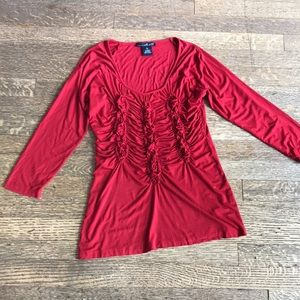 Dramatic Red Willi Smith Blouse